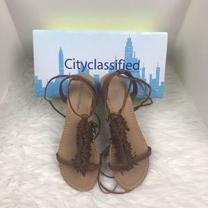 New City Classified Lace-Up Gladiator Flat Sandals